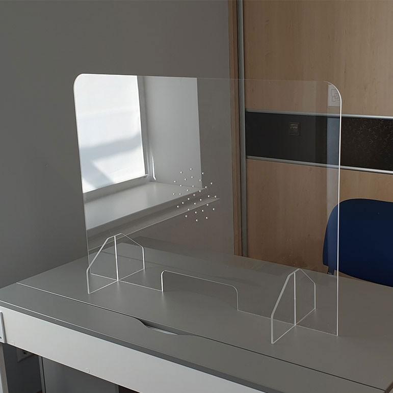 vitre de protection anti-postillons en plexiglas